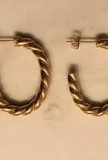Hoops oorbellen rope goud
