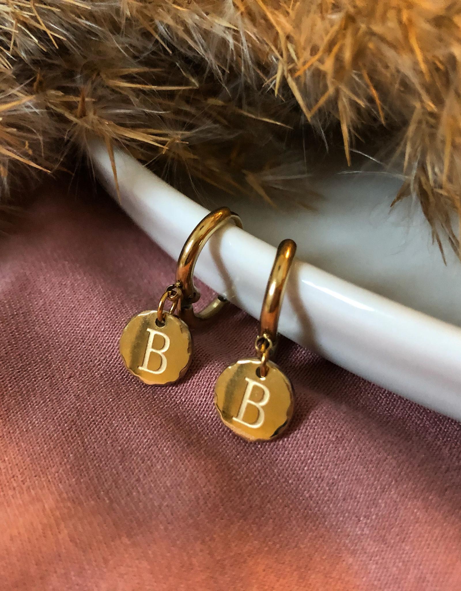 Oorbellen met initialen 14k goud