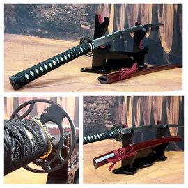 Curl katana samurai zwaard met rode saya