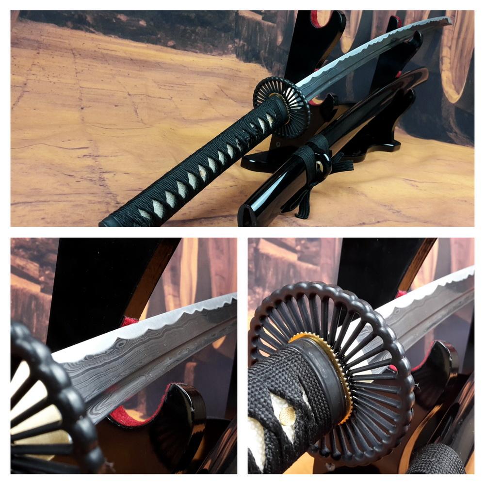 Damast staal samurai zwaard L