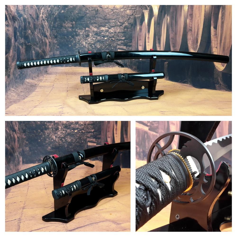Samurai zwaarden set zwart