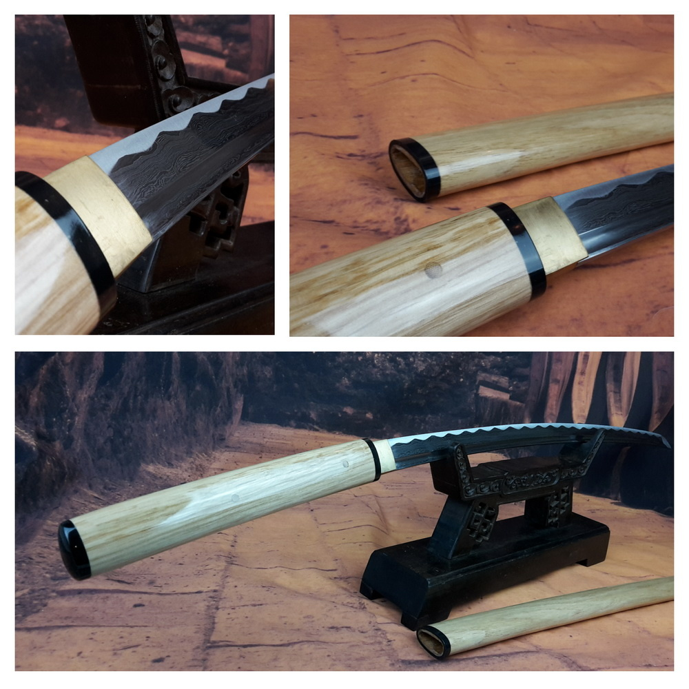 Shirasaya damast samurai zwaard