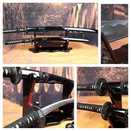 Damast staal Samurai zwaarden set