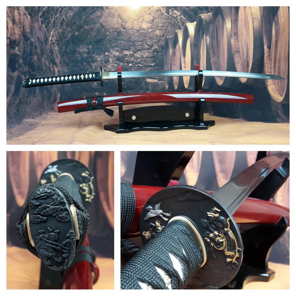 B katana samurai zwaard met rode saya