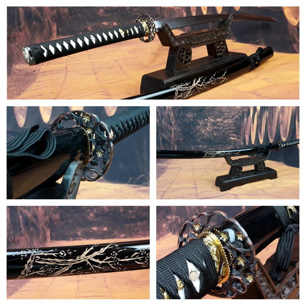 Samurai zwaard met bewerkte saya Tree F