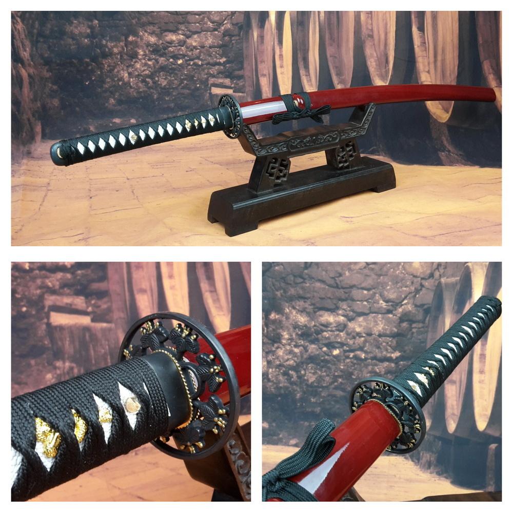 Rood Leaf katana samurai zwaard