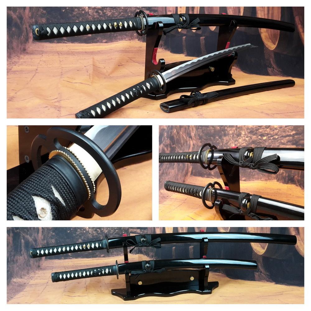 Battle ready Samurai zwaarden mus set zwart