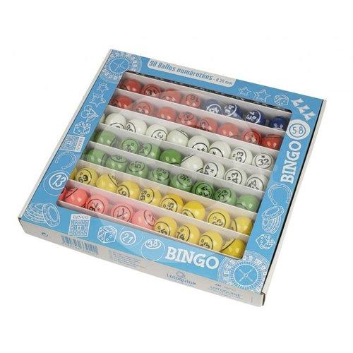 HollandBingo Bingoballen 1-90 ø37,5mm gekleurd