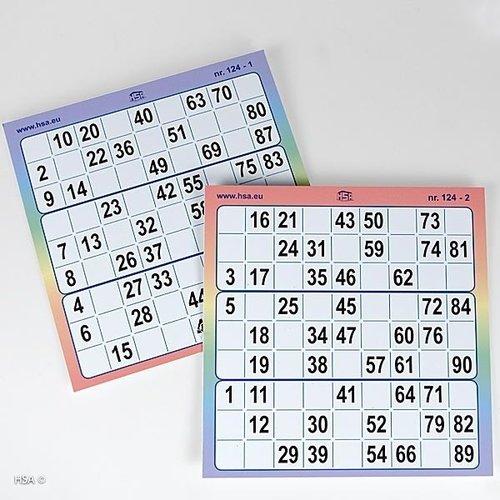 HSA Bingokaarten 3-up full colour kunststof