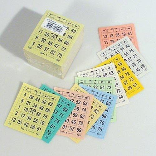 HollandBingo Bingokaarten 1-75 boekje 10 dik 1 GROOT ticket per vel