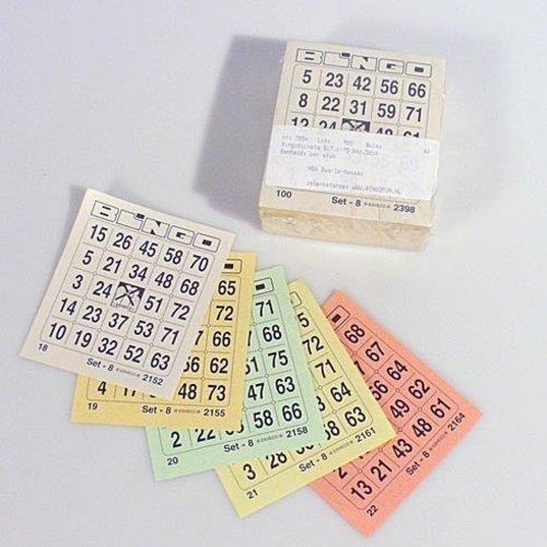 HollandBingo Bingokaarten 1-75 boekje 05 dik 1 GROOT ticket per vel