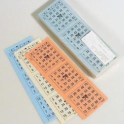 Bingokaarten 1-75 boekjes 03 dik KLEIN Enkel