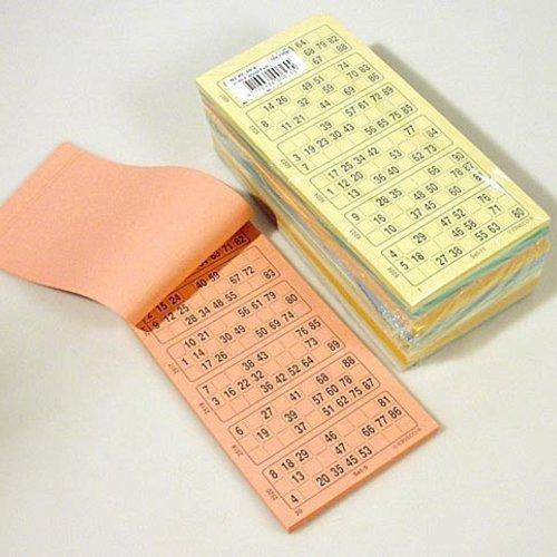 HollandBingo Bingokaarten 1-90 10 kleuren enkel geperforeerd