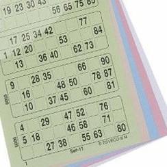 Bingokaarten boekjes 1-90 5 dik enkel