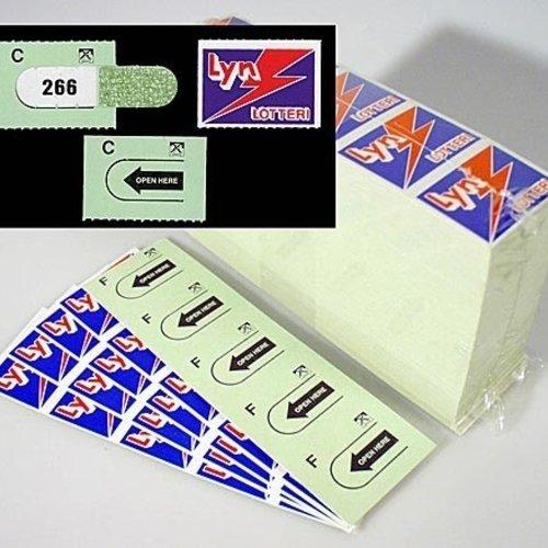 Spel lyn-strips 200 x 5 tickets