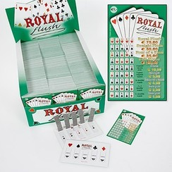 Pokerspel 'Royal Flush' 1200 tickets