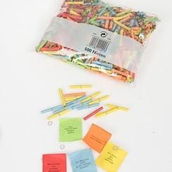 Papieren loten (zonder winnende loten) 500st.