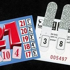 Spel 21 cijfer 1000 kaartjes
