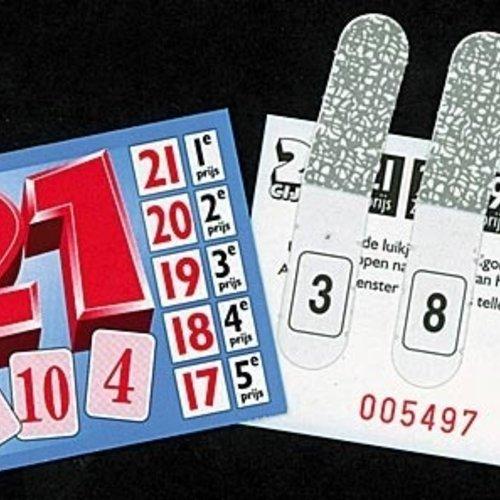 HollandBingo Spel 21 cijfer 1000 kaartjes