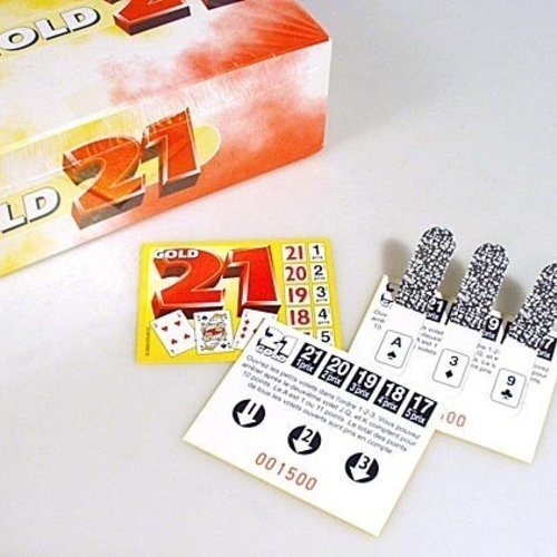 HollandBingo Spel 21 gold 1000 kaartjes