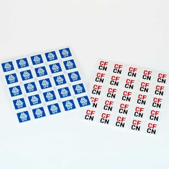 Consumptie breekmunt matje 500 stuks gelijke opdruk 2 zijden