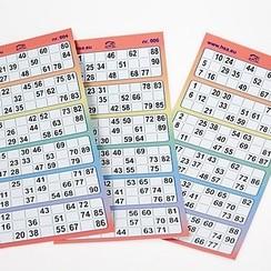 Bingokaarten 6-up full colour kunststof
