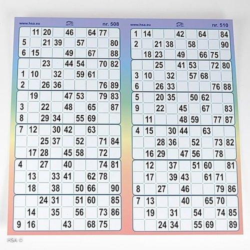 HollandBingo Bingokaarten 6-up full colour kunststof