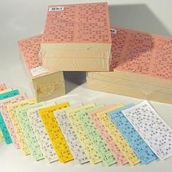 Bingokaarten boekjes 1-90 15 dik