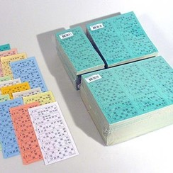 Bingokaarten boekjes 1-90 13 dik