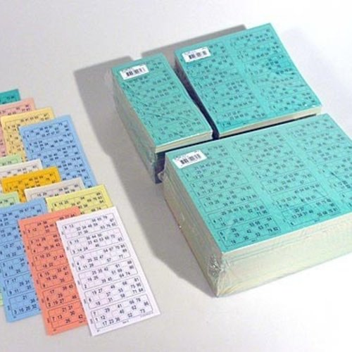 HollandBingo Bingokaarten boekjes 1-90 13 dik