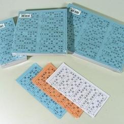 Bingokaarten boekjes 1-90 03 dik