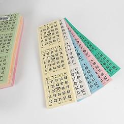 Bingokaarten 1-75 big 5 kleuren GROOT