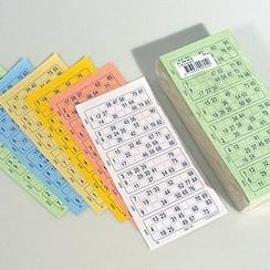 Bingokaarten boekjes 1-90 06 dik