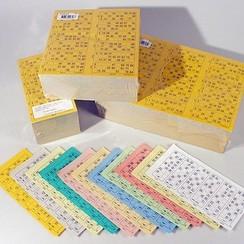 Bingokaarten boekjes 1-90 11 dik