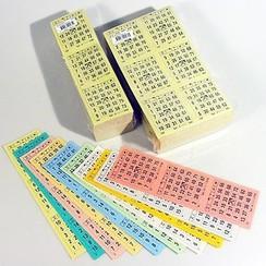 Bingokaarten 1-75 boekje 10 dik GROOT