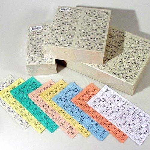 Bingokaarten boekjes 1-90 08 dik