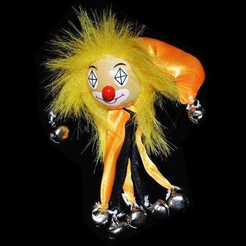 Clownsbroche zwart-geel