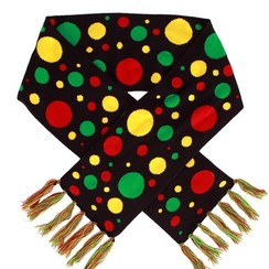 Sjaal confetti rood-geel-groen 160 x 20 cm