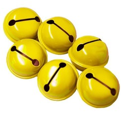 Narrenbellen geel 17mm
