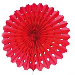 Decoratie waaier rood 45 cm