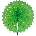 Decoratie waaier lichtgroen 45 cm
