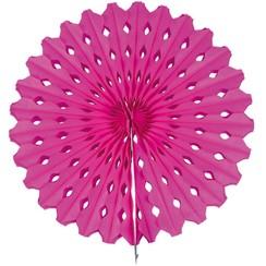 Decoratie waaier magenta 45 cm