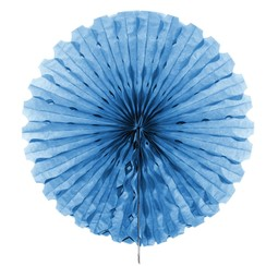 Decoratie waaier lichtblauw 45 cm