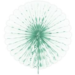 Decoratie waaier muntgroen 45 cm