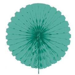 Decoratie waaier turquoise 45 cm