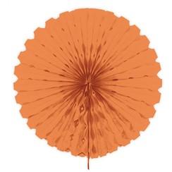 Decoratie waaier zalm roze 45 cm