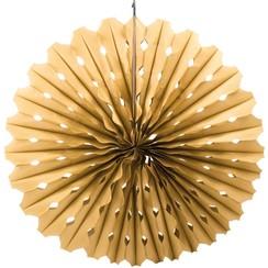 Decoratie waaier goud 45 cm