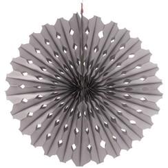Decoratie waaier zilver 45 cm