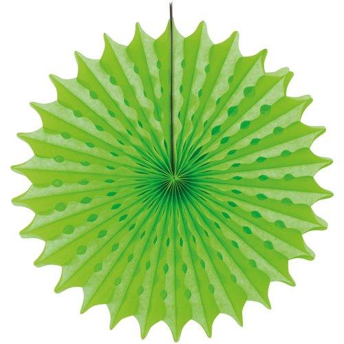 Decoratie waaier neon groen 45 cm