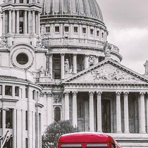 Deursticker Londen bus 90 x 200 cm